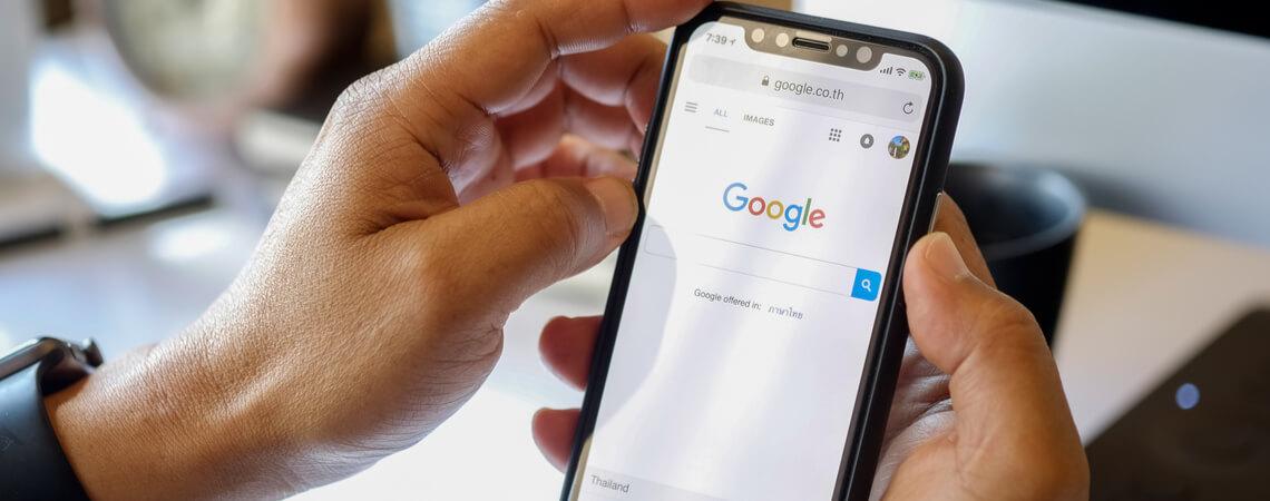 Google auf iPhone