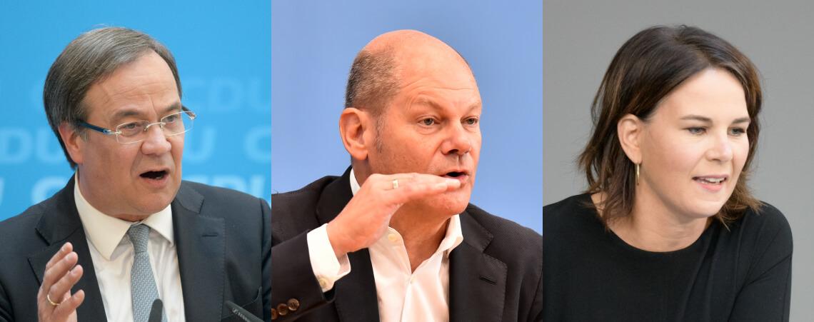 Laschet, Scholz, Baerbock
