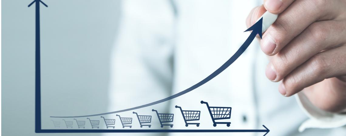 Wachstum Grafik E-Commerce