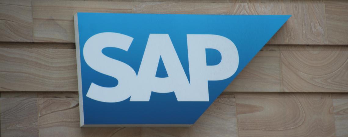 SAP Logo auf Wand