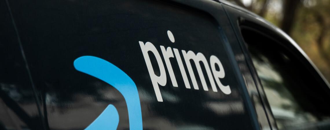 Lieferfahrzeug des Online-Riesen Amazon