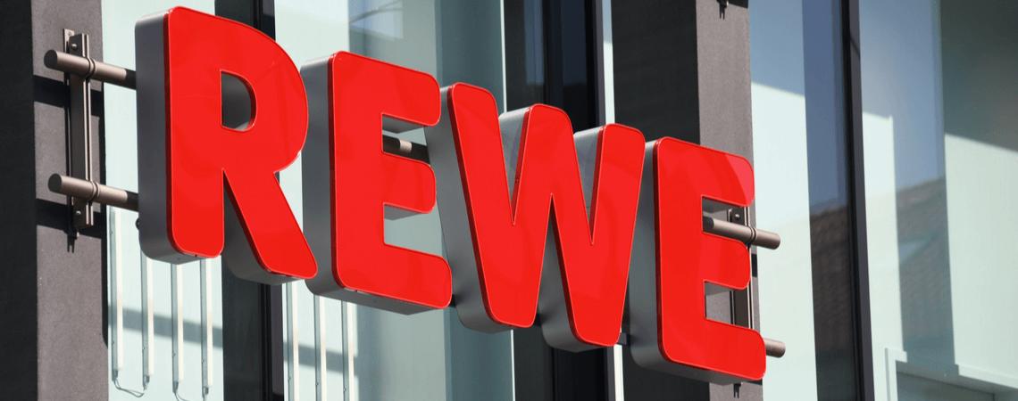 Logo der Supermarktkette Rewe