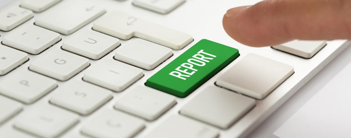 Melden-Button auf Tastatur