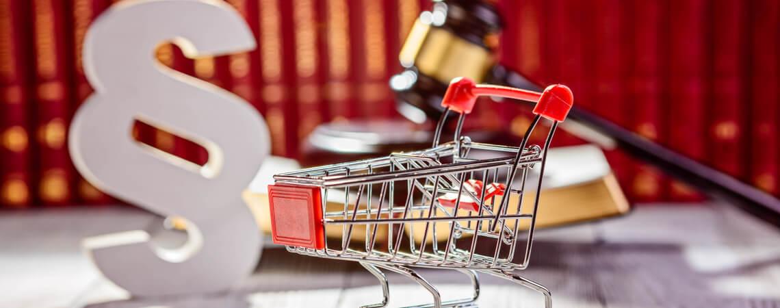 Einkaufswagen, Paragraphenzeichen