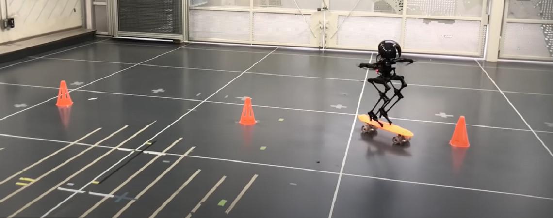 Leonardo: The Skateboarding, Slacklining Robot