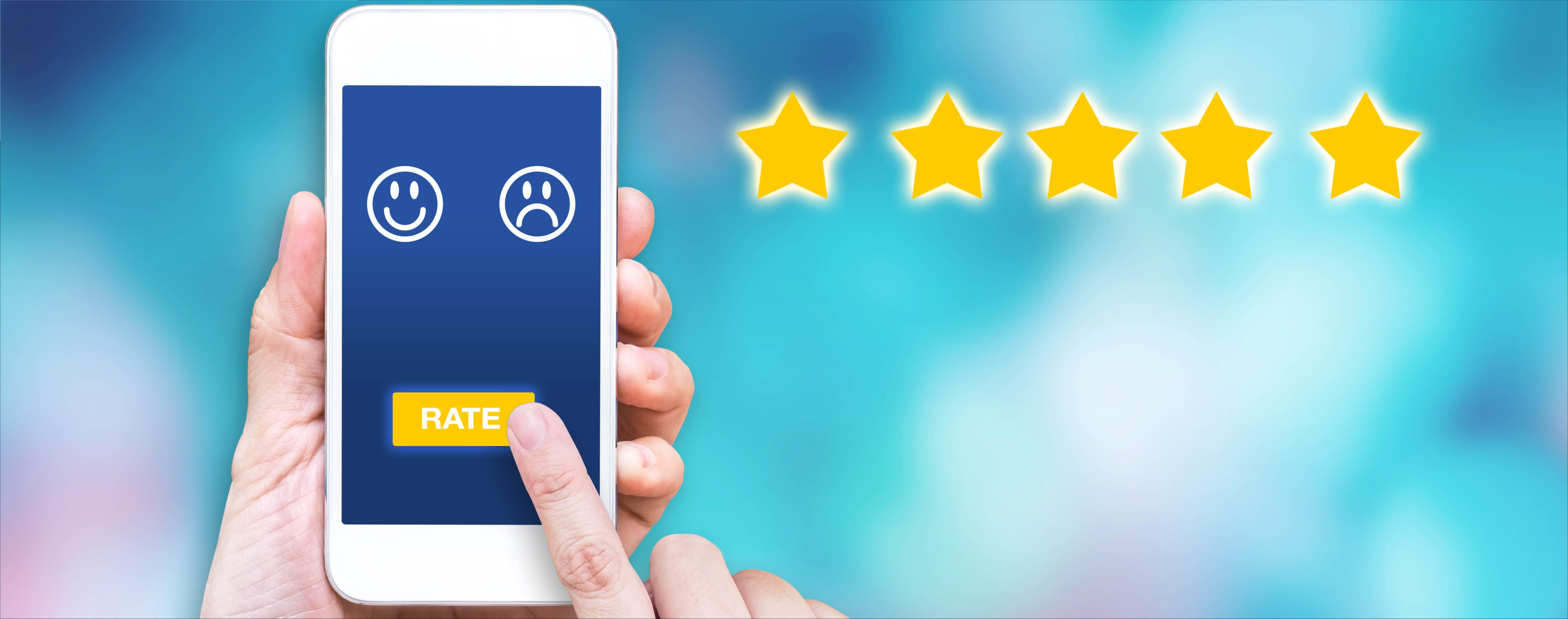 Bewertung auf Handy abgeben